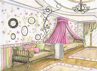 Дизайн детской комнаты. Простор в детской