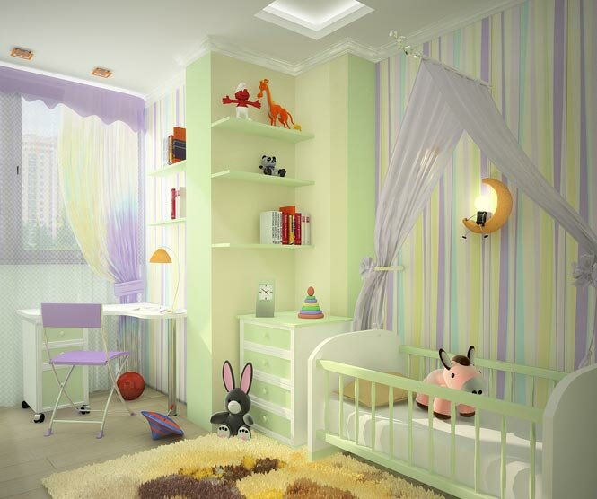 Дизайн детской комнаты. Цвет и свет в детской