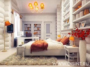 Дизайн спальни в стиле Русского кантри