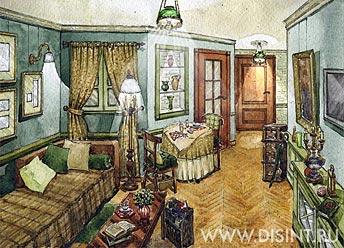 Дизайн интерьера в стиле Русского кантри