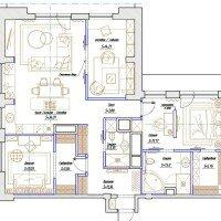 Планировка просторного дома