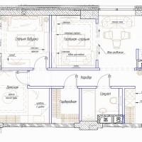 Пример планировки большой квартиры