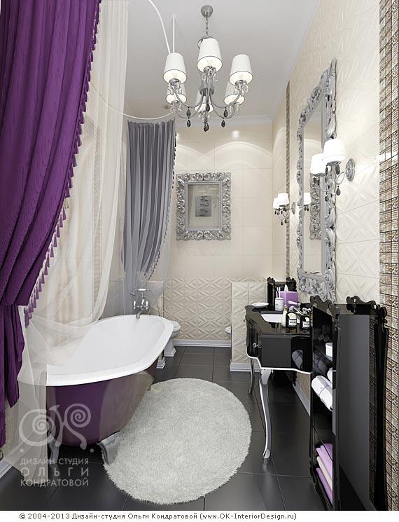 3D дизайн ванной комнаты