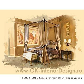 Дизайнерские интерьеры спальни