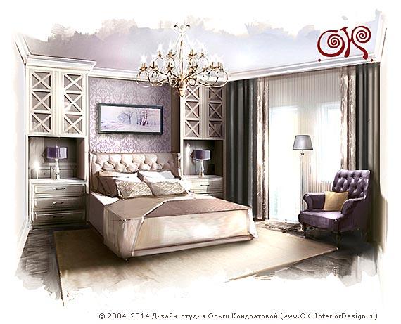 Дизайн классической спальни