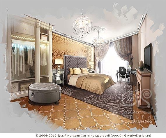 Дизайн спальни рисунок