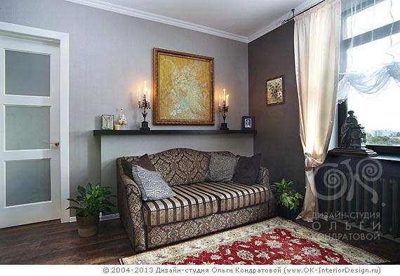Стена серого цвета – идеальный фон