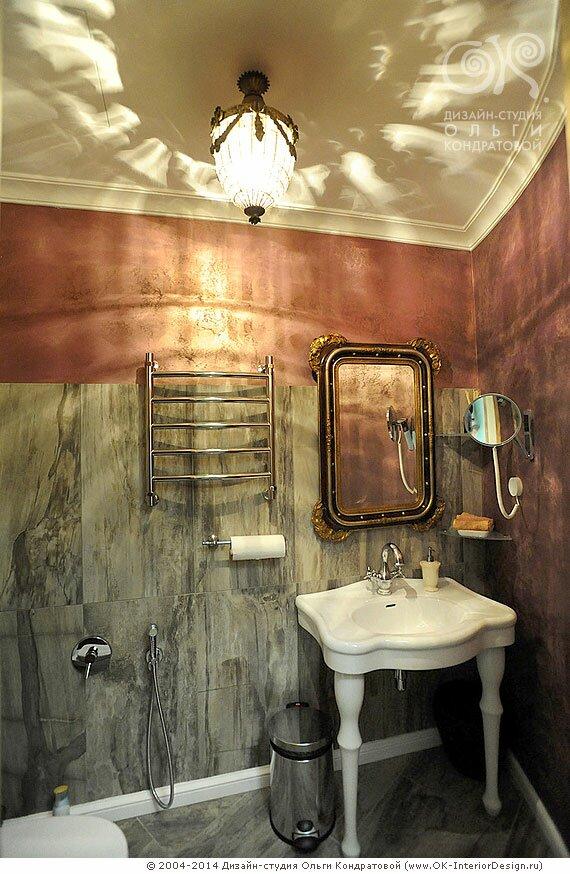 Дизайн санузла в салоне красоты