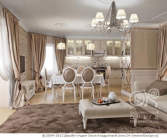 Дизайн гостиной и столовой фото