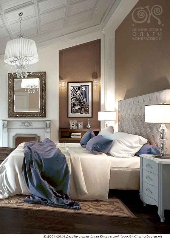 Декор прикроватной зоны спальни