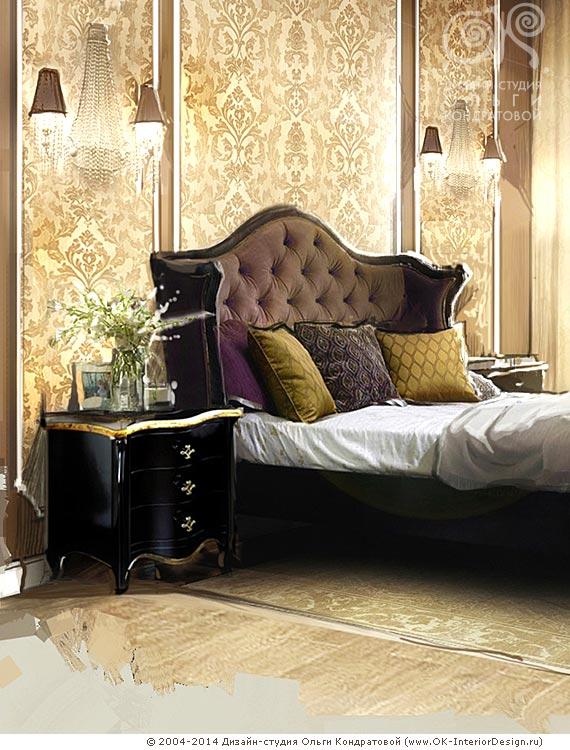 Пряные расцветки текстиля в спальне