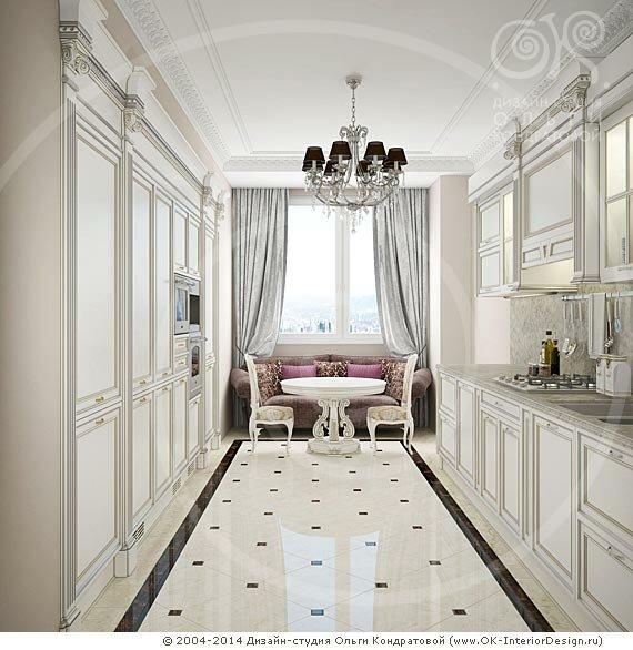 Античная белая кухня