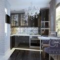 3D дизайн маленькой кухни в квартире