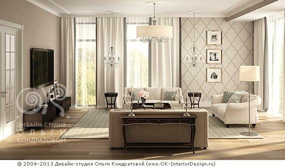 3D дизайн бежевой гостиной, фото ...: www.ok-interiordesign.ru/ph_dizain-interyera-gostinoy.php