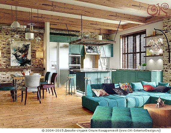 Дизайн гостиной в стиле лофт. Фото 2015 ...: www.ok-interiordesign.ru/ph_dizain-interyera-gostinoy.php