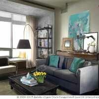 Фото интерьера гостиной в стиле лофт