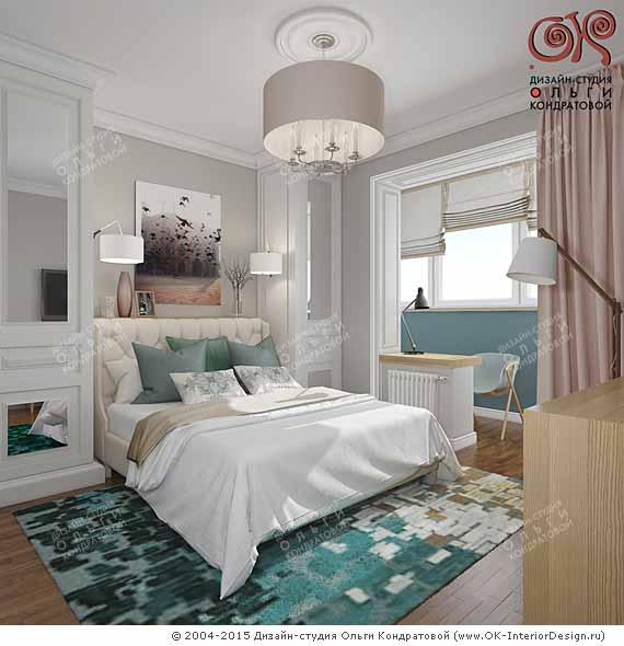 Современный дизайн маленькой спальни фото 2016-2017
