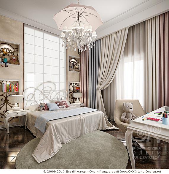 Дизайн детской комнаты для девочки 7-10 лет в квартире