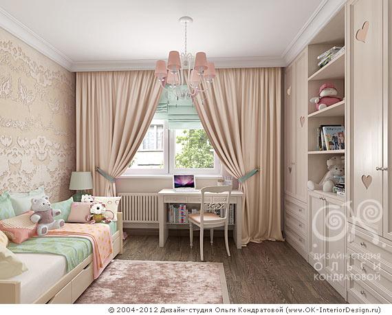 Детская комната для девочки 3-7 лет в квартире