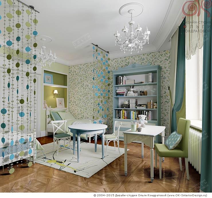 Дизайн интерьера детской комнаты в ЖК «Дом на Давыдковской»