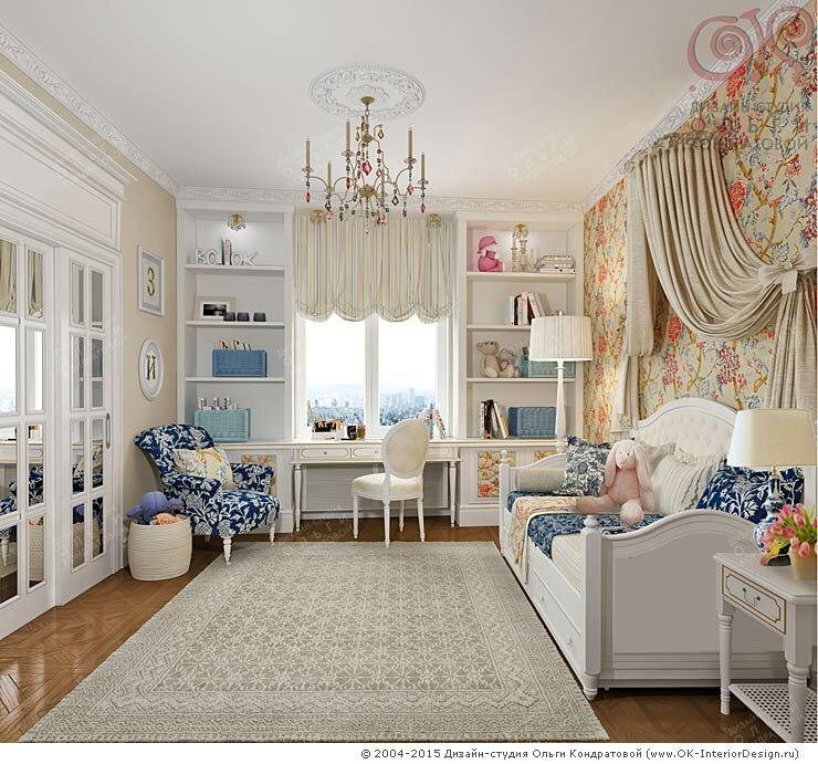 Дизайн детской комнаты для девочки 8-10 лет в квартире