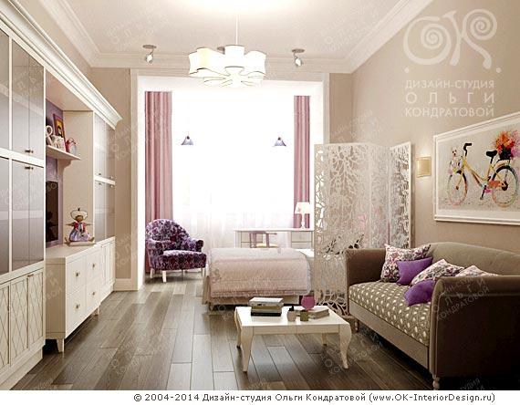 Детская комната для девочки 8-13 лет в квартире