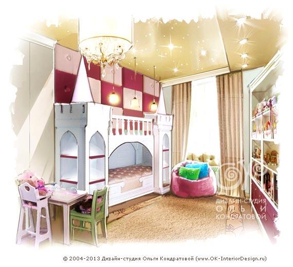 розовой детской комнаты