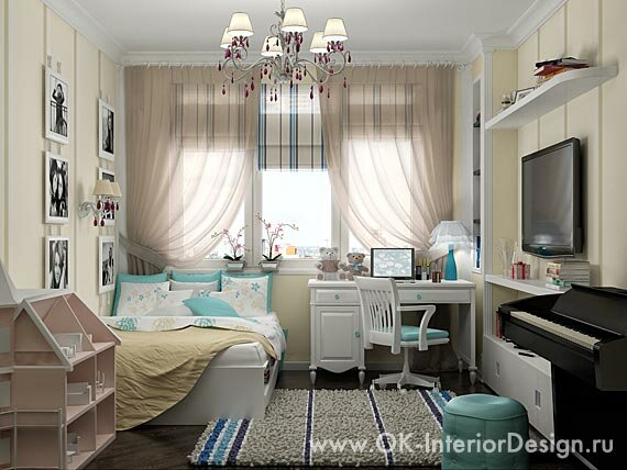 Детские комнаты для девочки и мальчика фото