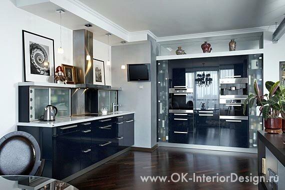 Кухня в лофт-интерьере