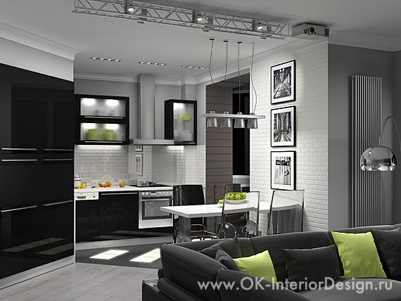 Дизайн интерьеров на основе белого