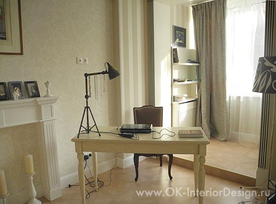 Классическая гостиная-кабинет
