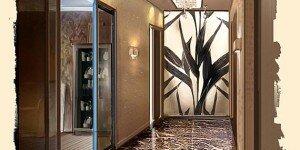 Приемы декорирования интерьеров прихожих, холлов и коридоров