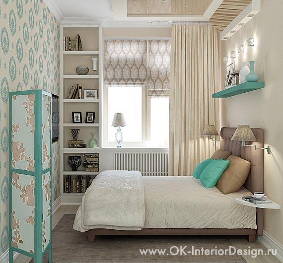 Интерьер спальни для молодой девушки