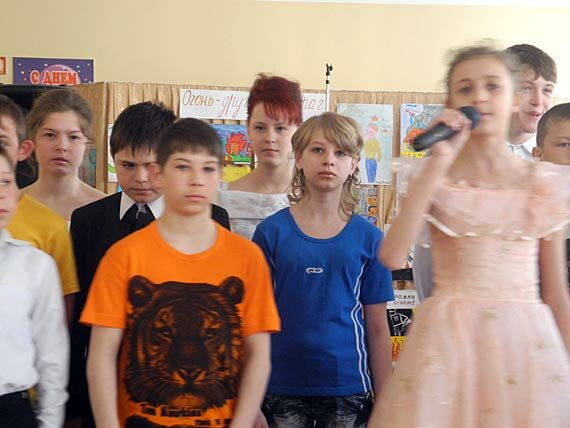 Детский утренник в Новопетровской школе-интернате