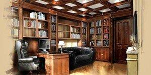 Дизайн-проект интерьера классического кабинета