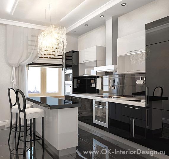 Дизайн интерьеров кухня белая