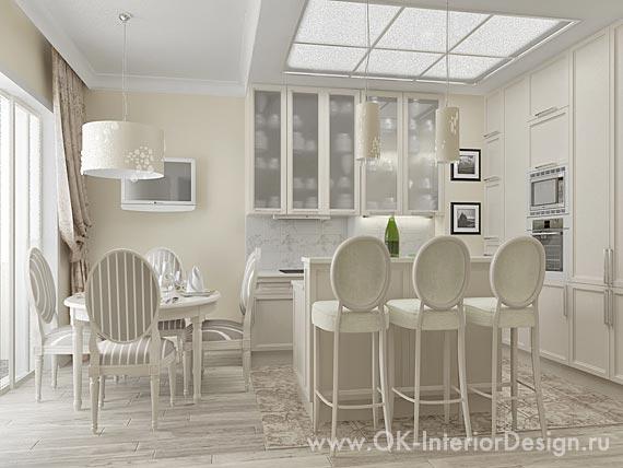 дизайн кухни в светлых тонах 9 кв.м. фото