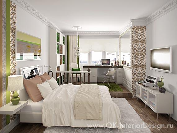 Дизайн интерьера комнаты для взрослой дочери