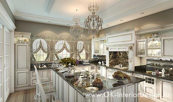 Дизайн интерьера кухни в классическом