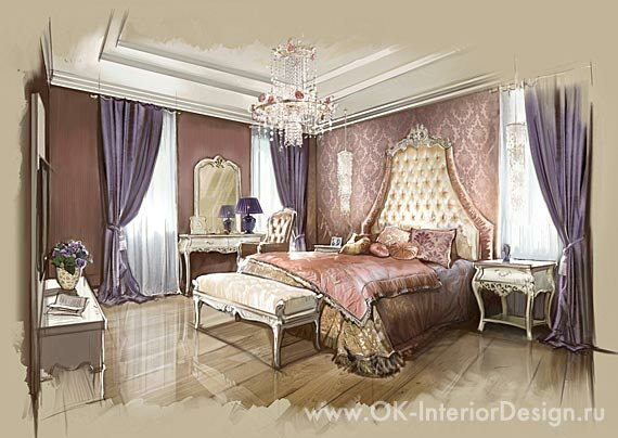 Спальня дизайн потолка фото