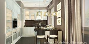 «Кофе с молоком» в интерьере кухни