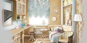 Приёмы классического декорирования детской комнаты для девочки