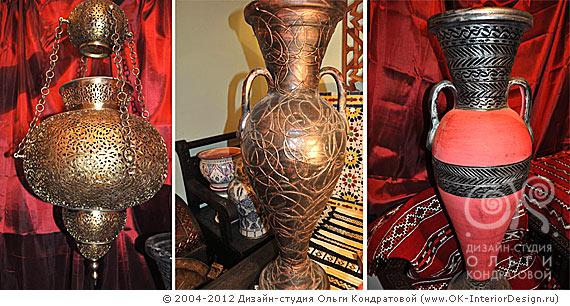 Марокканские вазы и декор