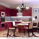Дизайн лиловой кухни