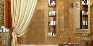 Дизайн интерьера карамельно-бежевой ванной