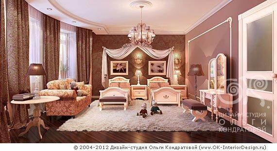 Детская комната для двух принцесс