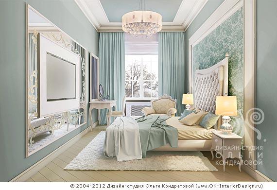 Дизайн спальни не большой