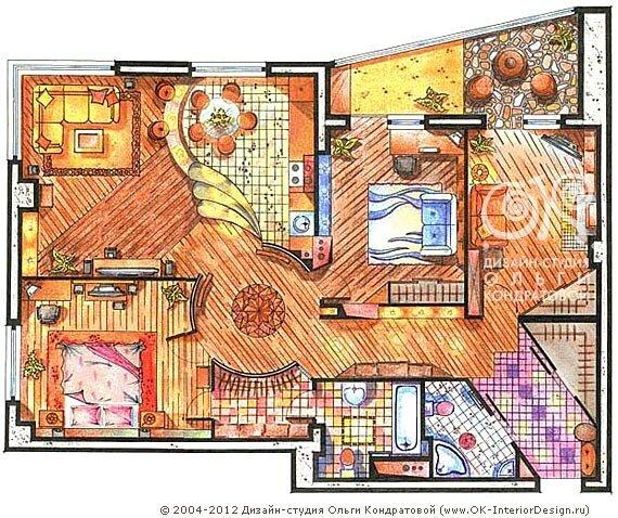 Варианты планировки квартир