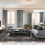 Классика в дизайне гостиной