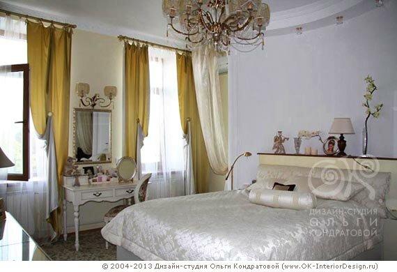 Дизайн классической белой спальни
